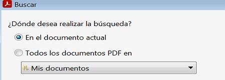 Buscar texto a través de la búsqueda avanzada dentro de un archivo PDF paso 4
