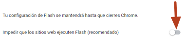 Cómo activar Adobe Flash Player en Google Chrome desde el menú de ajustes paso 6