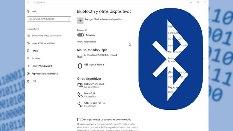 Cómo activar el bluetooth en Windows 10