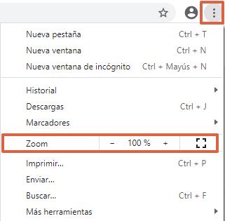 Cómo aumentar o reducir el tamaño de la pantalla de la PC desde los ajustes del navegador de Google Chrome