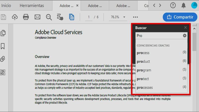 Cómo buscar texto dentro de un archivo PDF