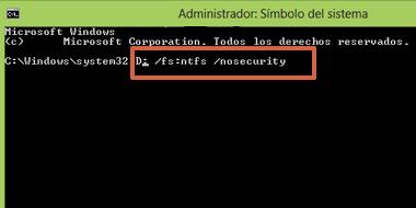 Cómo cambiar formato de unidad USB FAT32 a NTFS con Símbolo del Sistema paso 2