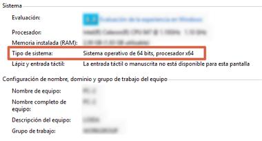 Cómo saber el tipo de Sistema Operativo en Windows