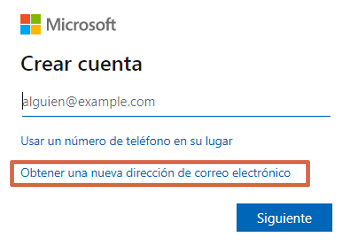 Crear un correo Hotmail Outlook paso 2