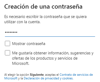 Crear un correo Hotmail Outlook paso 6