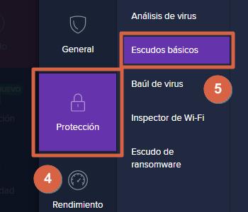 Desactivar el antivirus avast temporal o permanentemente pasos 4 y 5