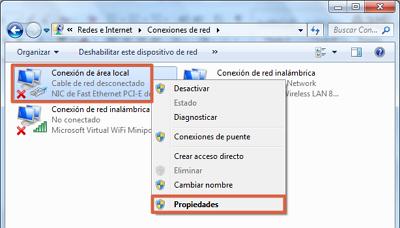 Error 0x80070422 solución desactivar conexión IPv6 paso 3
