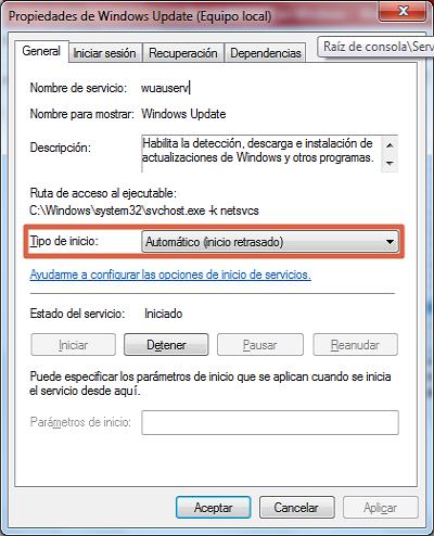 Error 0x80070422 solución restaurar Windows Update paso 3
