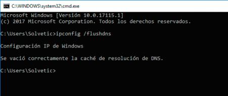 Limpar DNS en Windows