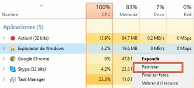 Ocultar la barra de tareas reiniciando el explorador de Windows