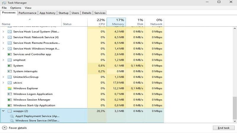 Qué es el proceso Wsappx y cómo solucionar su alto uso de CPU