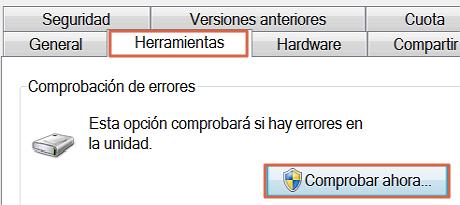 Solucionar el error no se puede realizar la solicitud por un error del dispositivo de E-S paso 3