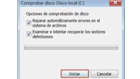 Solucionar el error no se puede realizar la solicitud por un error del dispositivo de E-S paso 5