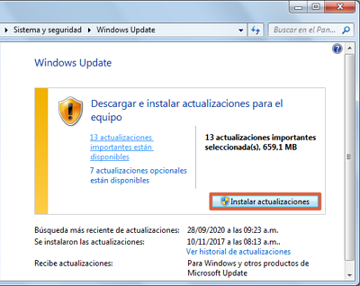 Actualizar Windows 7 paso 4