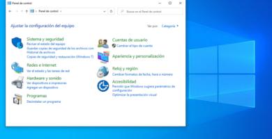 Cómo abrir el panel de control en Windows 10
