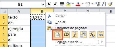 Cómo convertir textos a mayúsculas o minúsculas en Excel paso 3