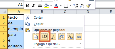 Cómo convertir textos a mayúsculas o minúsculas en Excel paso 4
