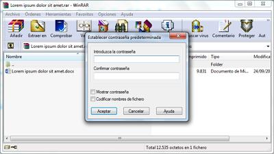 Cómo ponerle contraseña a una carpeta en Windows con archivo comprimido