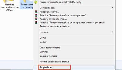 Cómo ponerle contraseña a una carpeta en Windows usando encriptar paso 1
