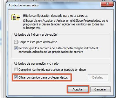 Cómo ponerle contraseña a una carpeta en Windows usando encriptar paso 3