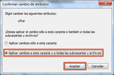 Cómo ponerle contraseña a una carpeta en Windows usando encriptar paso 4