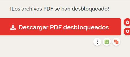 Cómo quitar contraseña de un PDF o desbloquear documentos con ilovePDF paso 3