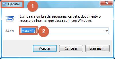 Desactivar programas de inicio automático en Windows 7 pasos 1 y 2
