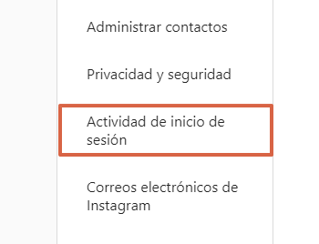 Cómo cerrar sesión de Instagram en todos los dispositivos en que estén abiertos desde la computadora paso 3