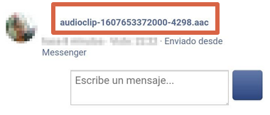Cómo descargar audio desde Facebook Messenger desde el móvil paso 4