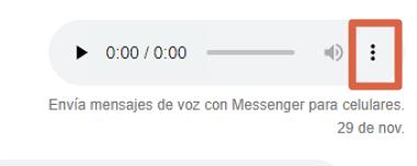 Cómo descargar audio desde Facebook Messenger desde la PC paso 4