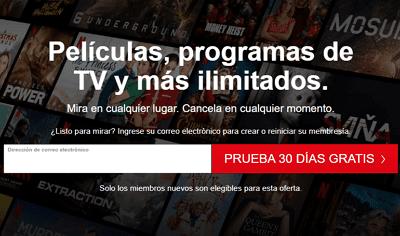 Cómo obtener el mes gratis de Netflix paso 1