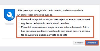 Cómo recuperar una cuenta de Facebook con Facebook Hacked paso 5