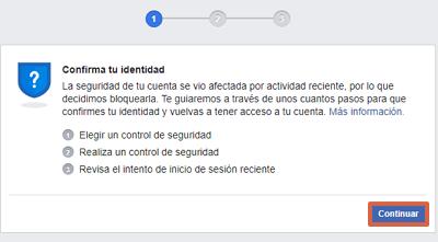 Cómo recuperar una cuenta de Facebook con documentos de identificación paso 1