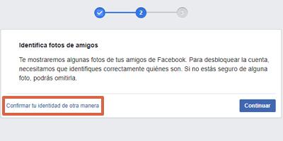 Cómo recuperar una cuenta de Facebook con documentos de identificación paso 3