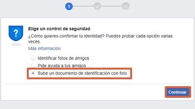 Cómo recuperar una cuenta de Facebook con documentos de identificación paso 4