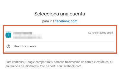 Cómo recuperar una cuenta de Facebook con una cuenta de Google paso 4