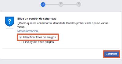 Cómo recuperar una cuenta de Facebook identificando fotos de amigos paso 2