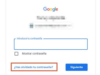 Cómo recuperar una cuenta de Google sin la contraseña de ingreso paso 1