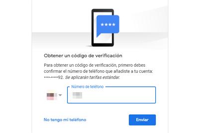 Cómo recuperar una cuenta de Google sin la contraseña de ingreso paso 3