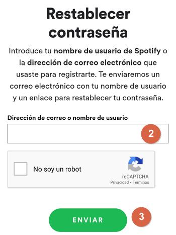 Cómo recuperar una cuenta de Spotify desde tu teléfono Android o iOS paso 3