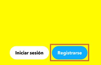 Cómo registrarte o crear una cuenta en Snapchat desde tu teléfono paso 1