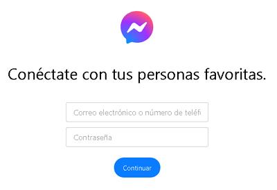 Ingresar a Facebook Messenger desde la web paso 2