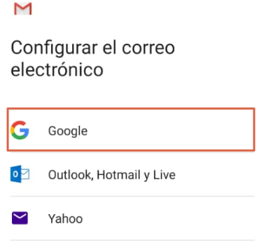 Iniciar sesión en Gmail desde un móvil paso 1