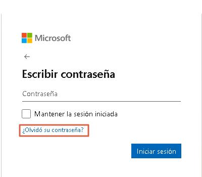 Iniciar sesión en Hotmail sin contraseña paso 2