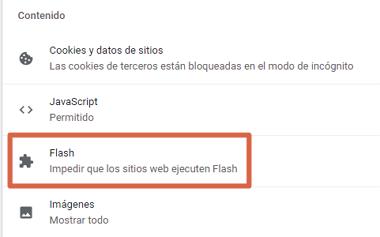 Activar Flash