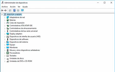 Administrador de dispositivos de Windows 10