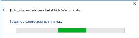 Buscando controladores en línea en Windows 10