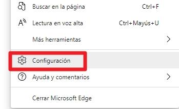 Configuración en Edge