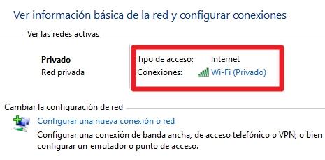 Configurar acceso a internet