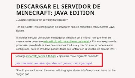Descargar servidor de Minecraft 11
